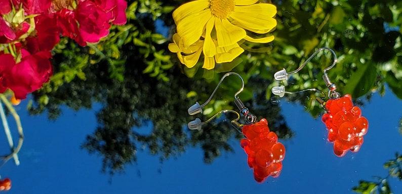 pair Sparkly Gummy Bear earrings