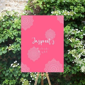 Customizable Sangeet Sign Editable Mehndi Night Welcome Sign Instant PDF Download for Indian Wedding