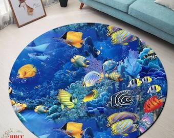 Ocean Area Rug Etsy