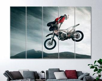 Motocross Canvas Art Etsy