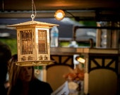 FREE SHIPPING Bird Feeder, DIY Model You Build, Craftsman Prairie Style Wooden 3D Puzzle Kit and Lantern, Mason Jar with Seed Not Included