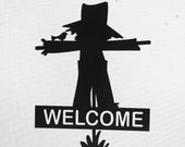 Personalized Scarecrow Metal Hanging Wall Sign or Yard Stake - Can Be Weatherproof - Fall or Halloween Decoration - Free Shipping