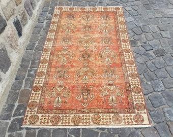 Persian Rug Area Rug, Turkish Rug,6.2x3.6 ft, Anatolian Rug, Vintage Rug,  Handmade Rug, Decorative Rug, C 2120 Vintage Rug, Persian Rug