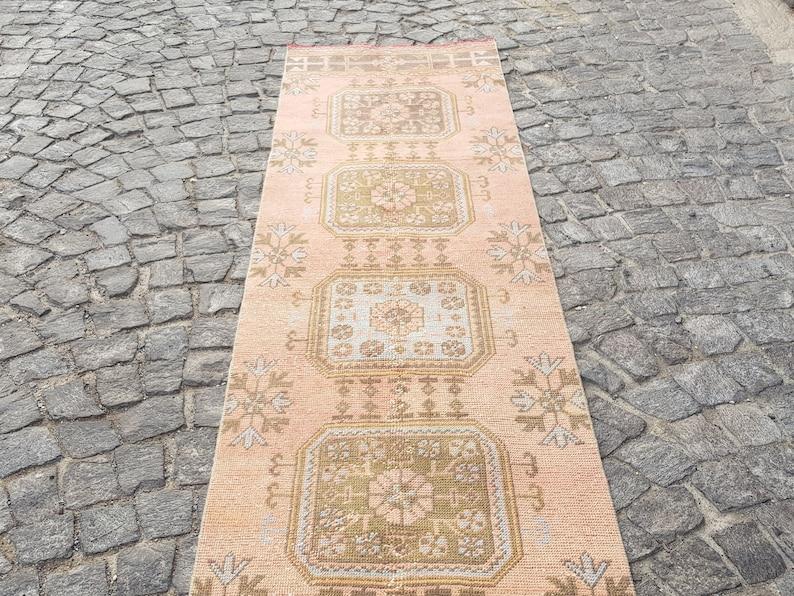 Decorative Rug Vintage Rug Wool Rug Number:N120 Anatolian Rug Persian Rug Turkish rugvintage turkish rug 11.5 x 2.6 ft Handmade Rug
