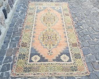 Persian Rug Turkish persian rug Rug 7 x 3.7 Feet, Anatolian Rug, Vintage Rug,  Handmade Rug, Decorative Rug, Wool Rug, Number: C2724 Persian