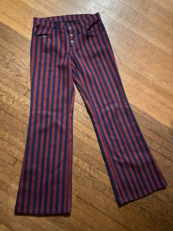 1970s Big E Levi's for Gals, Striped Bell Bottoms