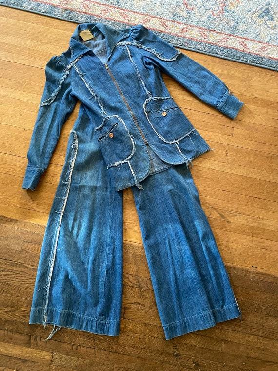 1970s Denim Suit