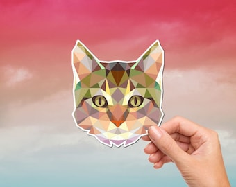 Best Friend Gifts Stickers For Car Polygon Geometric Decal Pug Animal Stickers Macbook Decal Cute Stickers Low Poly