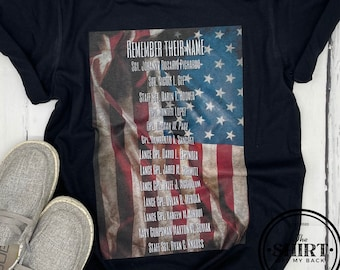Remember Their Name graphic tee | Kabul 13 Soldiers | US Military | Patriot