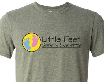 Little Feet Safety Systems graphic tee | LMA | Lawn Mower Accident Awareness | Gildan