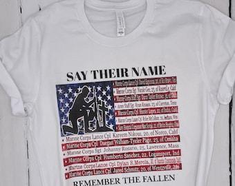 Say Their Names graphic tee | Sleepy Joe | Remember the Fallen 13 in Kabul | Trump Train | USA Shirt