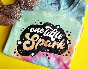 One Little Spark Rainbow Tie Dye Tee   Disney Journey Into Imagination Pastel Short Sleeve   Figment Epcot Festival of the Arts Plus Size
