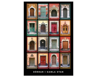 Dörrar i Gamla Stan, Stockholm, Poster (cm)