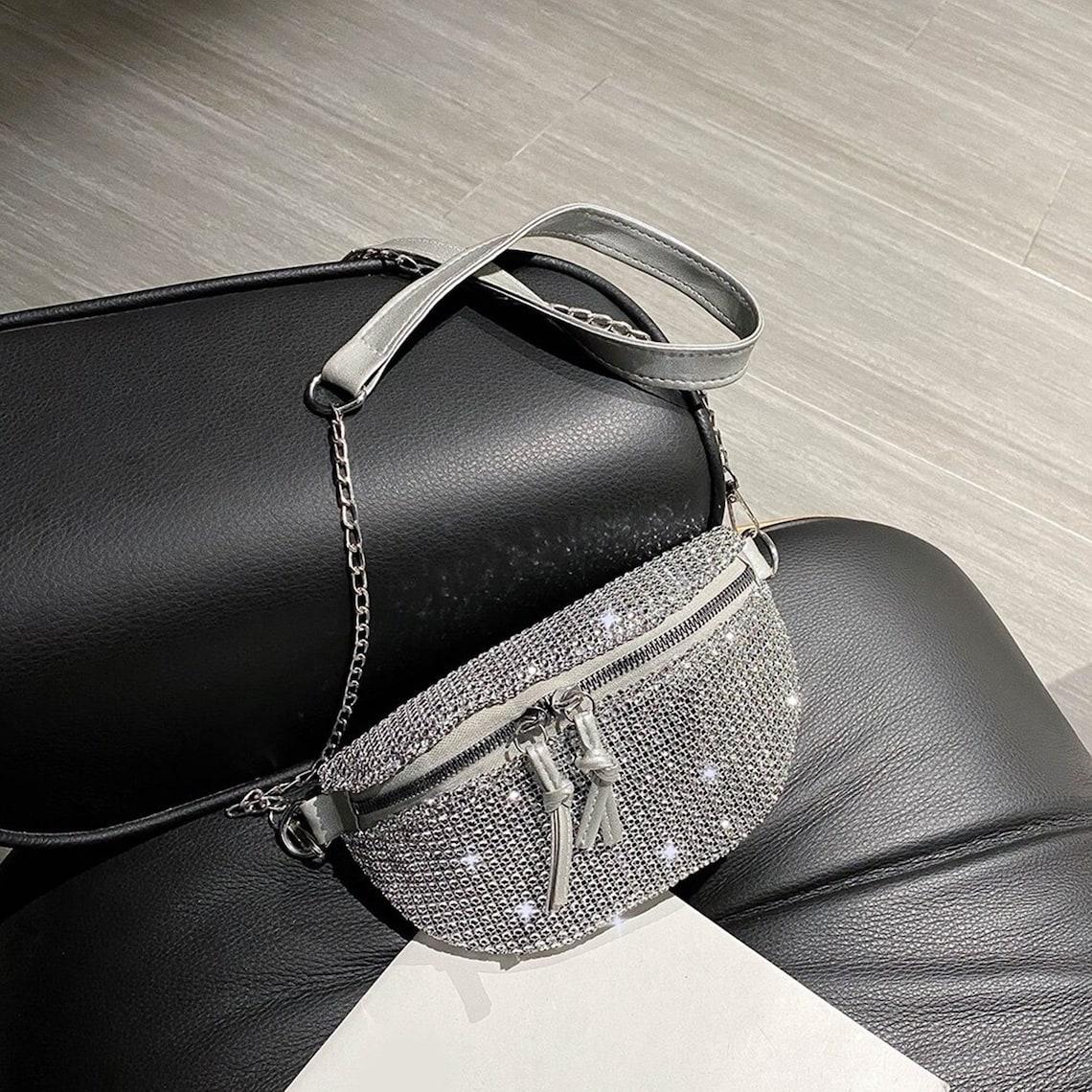 HB-161 Rhinestone Handbag - GLITTER FASHION