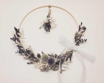 Lavender wreath   Lavender bouquet   Thistle wreath   mini bouquet included