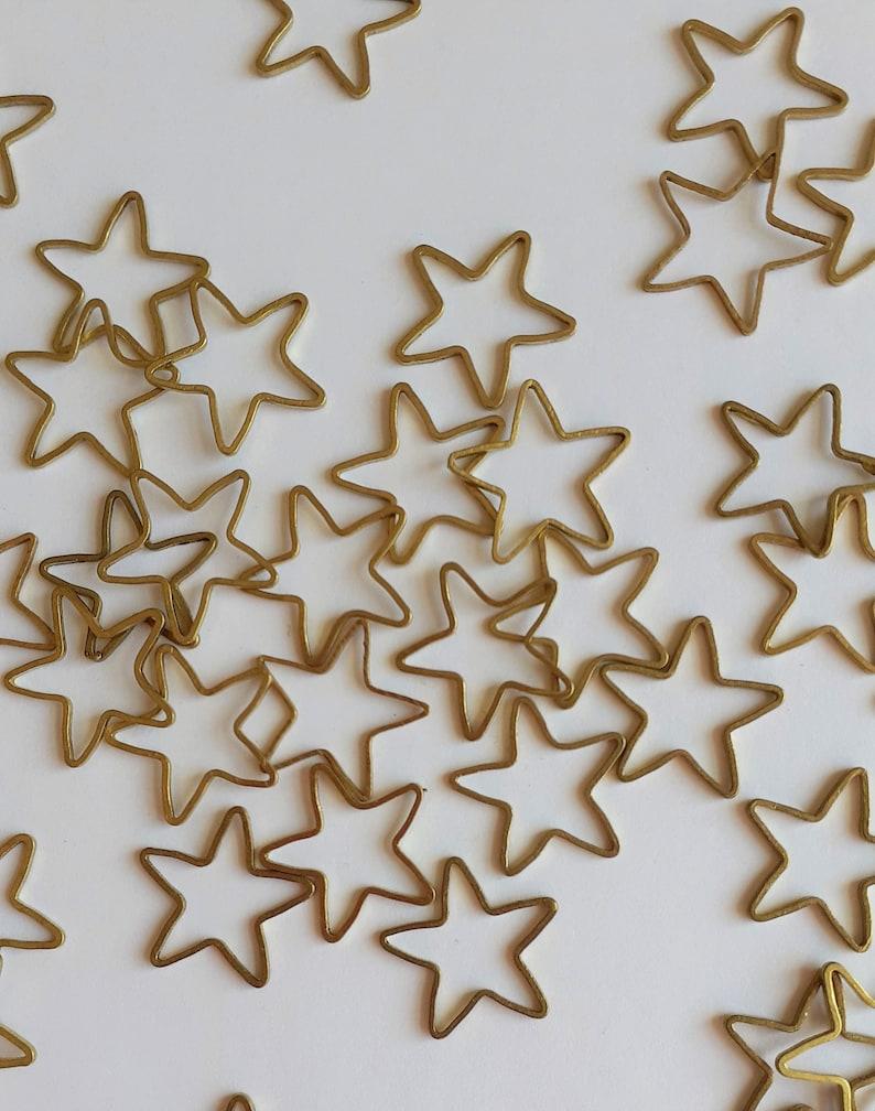 6pcs Stars Open Bezel Pendants