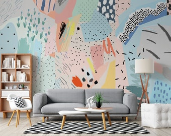 Wall Decor Removable Wallpaper Repositionable #191 Removable Wallpaper Peel And Stick Mural Dark Jungle Wall Mural Traditional