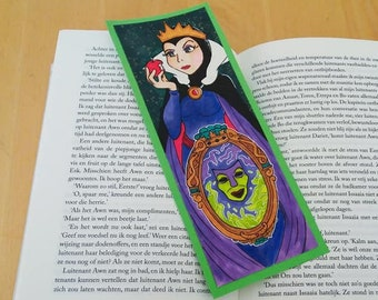 The Queen | MIrror, Mirror, | Snow White and the Seven Dwarfs Inspired | Handmade Bookmark