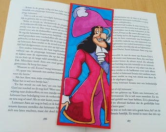 Captain Hook | Peter Pan Inspired | Handmade Bookmark