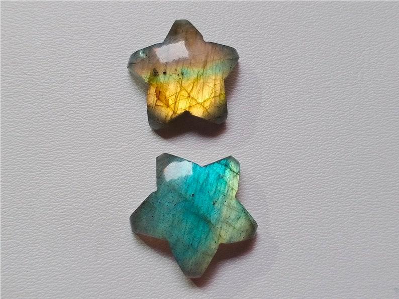 Both Side Polished Labradorite Stone 45 Crt Jewelry Making 2 P/'c Rare Multi Fire Star Labradorite Cabochon Loose Jewelry Stone