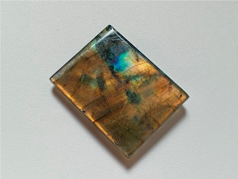 Gemstone 38X29X7 mm 84 Crt Both Side Polished Stone Amazing Unique Rare Fire Labradorite Cabochon Handmade Jewelry Making Stone
