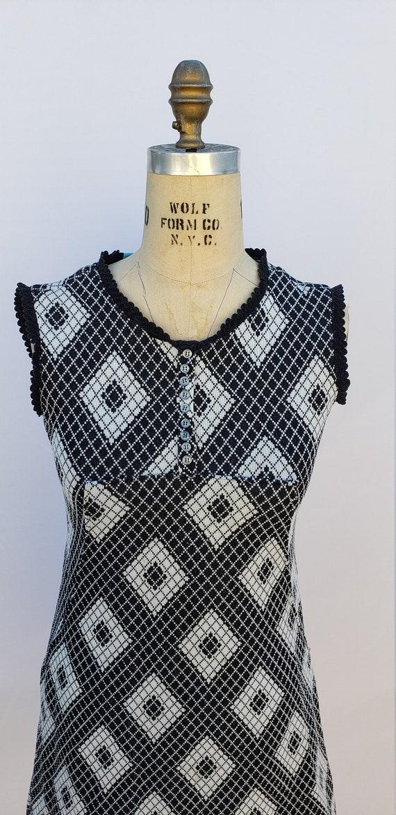 Vintage 1950's Knit Dress- 40s - 50s - image 3