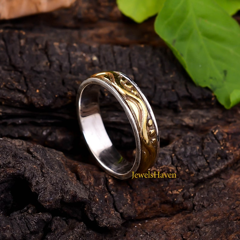 925 Silver Ring Statement Ring Unisex Ring Wide Band Ring Silver Spinner Ring Thumb Ring Handmade Ring Boho Ring Personalized Ring
