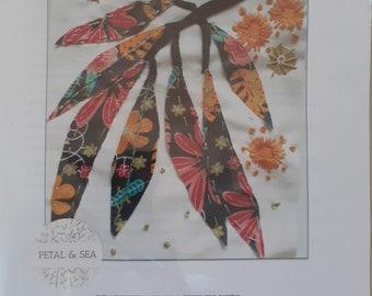 Vibrant orange flowered Eucalyptus Stitch Kits By PETAL /& SEA