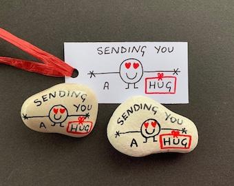 "Wish Strings /""Sending You Love/"" Heart Keyring"