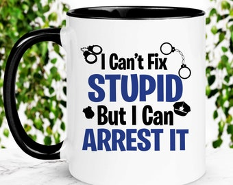 Details about  /Funny Cop Coffee Mug  Policeman Trump Gifts  Best Police Officer Birthday Gift