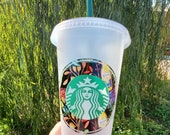 Starbucks Cold cup, Fiesta, Venti, Personalized, with Straw, Reusable, gifts
