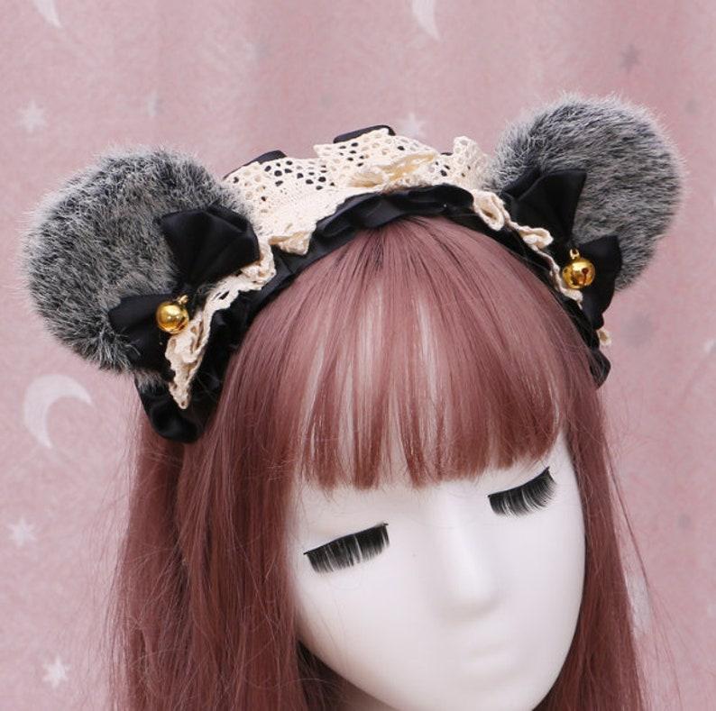 Bear hair band,bear head band,Animal Headdress,Handmade Headpiece,petplay,furry cat ears.