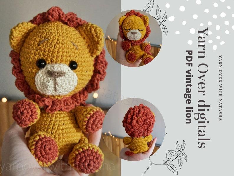 PATTERN for Lion: Crochet lion amigurumi lion pattern DIY image 1