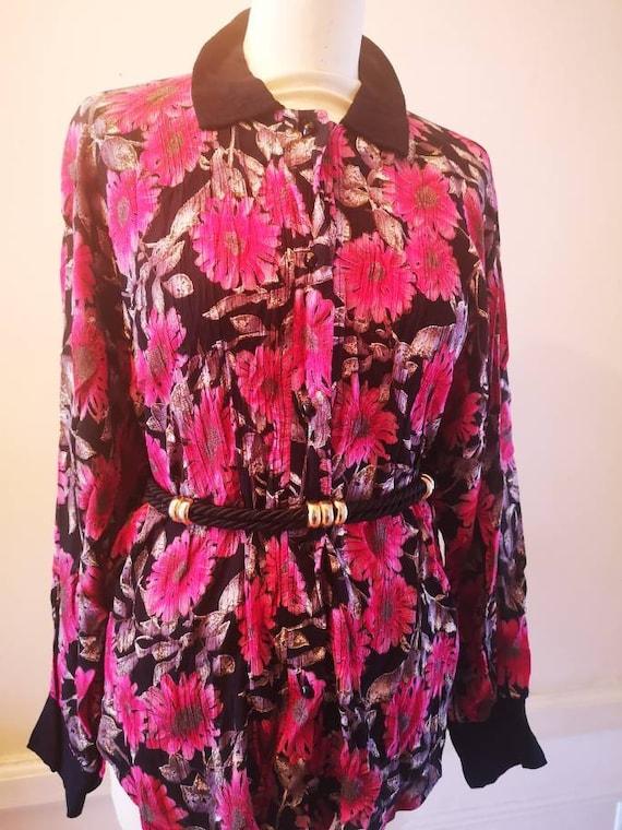 1980s Vintage floral print shirt