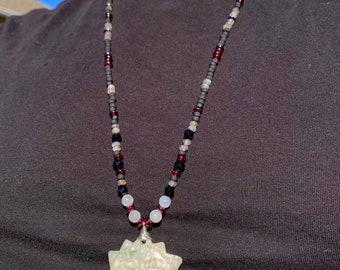 Crystal Sun Necklace Labradorite, Garnet, Hematite, Moonstone, Obsidian, Alabaster