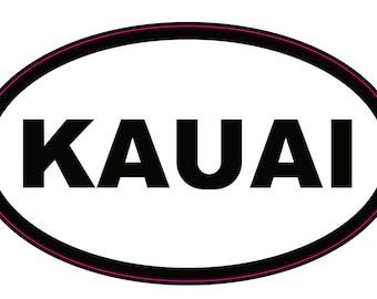 Kauai Oval Sticker