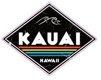 Kauai Sticker - Kauai Black Diamond Sticker - Kauai - Hawaii Sticker