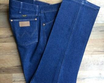 Wrangler Mens 13Mwz Original Fit Cowboy Cut Jeans Dark Denim 38 X 33