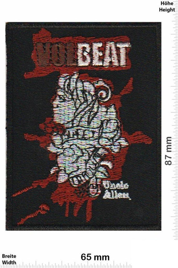 Volbeat VINTAGE MINT 80s Patch Badge Embroidered I