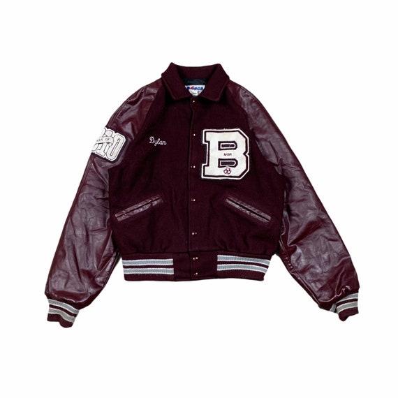 Varsity Jacket Meca Bordeaux vintage college jacke