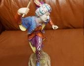 Porcelain Figurine Volkstedt Rudolstadt Dancer Morisk Dancer Fool with Turban
