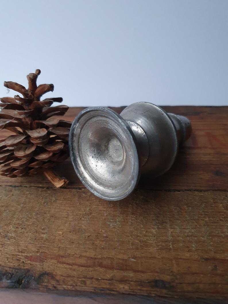 Antique Georgian pewter sugar or pepper shaker condiment pot