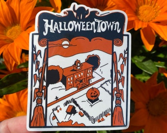 Halloweentown Vinyl Sticker