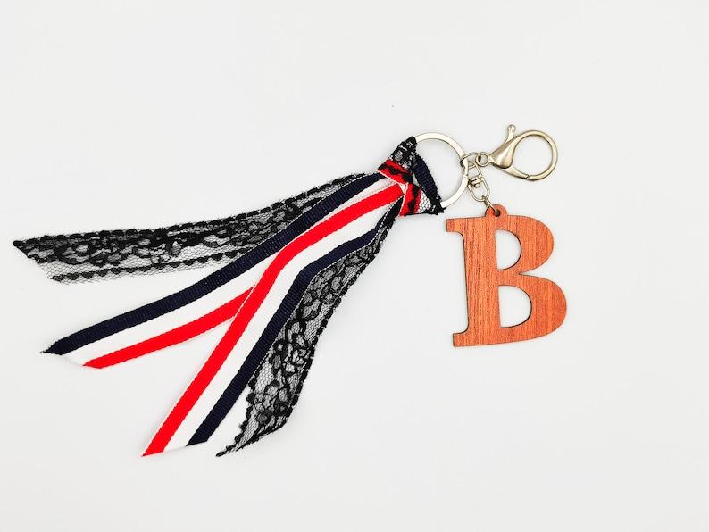 Bag Charm Keyring B Letter Keychain Key Chain Zipper Pull Key Ring Zipper Charm