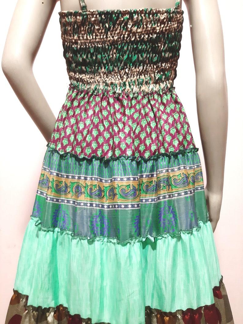 Indian Vintage Silk Long Skirt Women Wrap Bohemian Skirt Gypsy Hippie Boho Double Layer  Upcycle Wrap Skirt