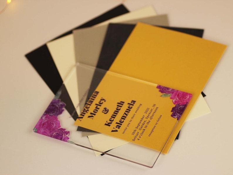 Transparent Custom Invitation CUSTOM Wedding Invitation Acrylic Simple Creation Premium Acrylic Personalised Glass Look Wedding Invite