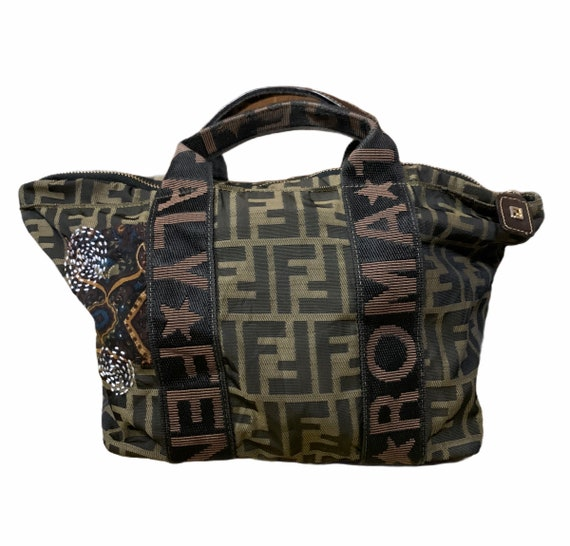 Fendi Mini tote bag SASHIKO style