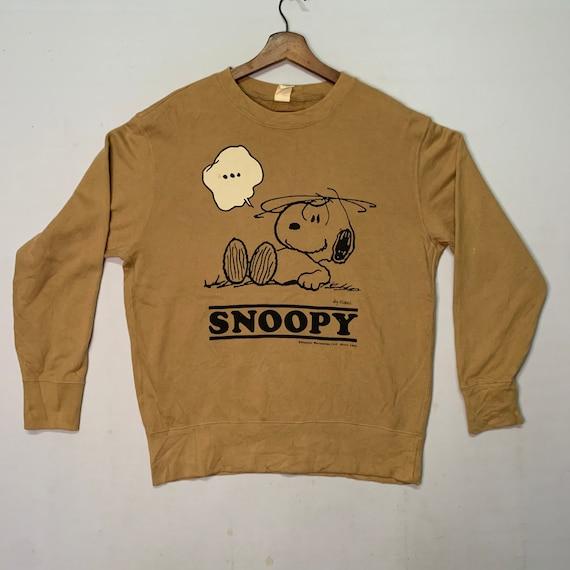 Snoopy Peanuts Uniqlo Sweatshirt Crewneck Plain Sw