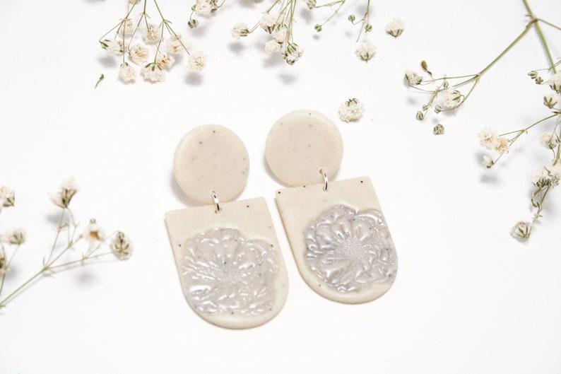 Fimo Jewelry Geometric Statement Polymerton Schmuck Earrings Modern F.LOVER Polymer Clay Earrings Clay