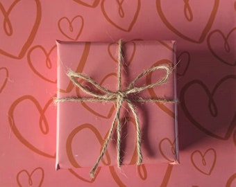 Love Love Love Wrapping paper,Birthday Wrap,Valentines Wrap,Luxury Gift Wrap